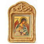 Ангел Хранитель поясной, резная деревянная рамка - Иконы