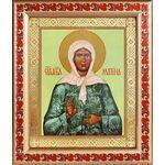 Святая блаженная Матрона Московская, икона в рамке с узором 19*22,5 см - Иконы