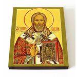 Священноисповедник Василий Кинешемский, икона на доске 13*16,5 см - Иконы