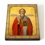 Преподобный Василий Парийский, епископ, икона на доске 13*16,5 см - Иконы
