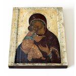 Владимирская икона Божией Матери, Андрей Рублев, доска 13*16,5 см - Иконы