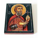Великомученик Константин Грузинский, князь, икона на доске 13*16,5 см - Иконы
