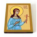 Праведная Гликерия Новгородская, дева, икона на доске 13*16,5 см - Иконы