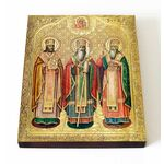 Святители Гурий, Герман и Варсонофий, Казанские чудотворцы, 13*16,5 см - Иконы