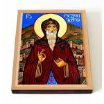 Преподобный Давид Гареджийский, печать на доске 13*16,5 см - Иконы
