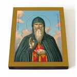Преподобный Дамиан Печерский, целебник, икона на доске 13*16,5 см - Иконы
