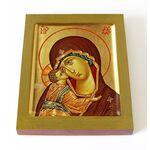 Игоревская икона Божией Матери, печать на доске 13*16,5 см - Иконы