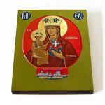 Леснинская икона Божией Матери, печать на доске 13*16,5 см - Иконы