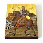 Великомученик Мина Котуанский, Фригийский, икона на доске 13*16,5 см - Иконы
