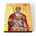 Великомученик Мина Котуанский, Фригийский, печать на доске 13*16,5 см - Иконы