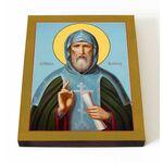 Преподобный Павел Комельский, Обнорский, икона на доске 13*16,5 см - Иконы