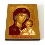 Петровская икона Божией Матери, печать на доске 13*16,5 см - Иконы