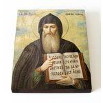 Преподобный Савва Освященный, печать на доске 13*16,5 см - Иконы
