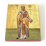 Священномученик Поликарп, епископ Смирнский, икона на доске 13*16,5 см - Иконы