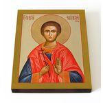 Мученик Тимофей Фиваидский, чтец, икона на доске 13*16,5 см - Иконы