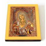 """Икона Божией Матери """"Умиление"""" Локотская, печать на доске 13*16,5 см - Иконы"""