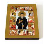 Блаженный Фаддей Петрозаводский, икона на доске 13*16,5 см - Иконы