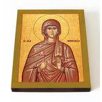 Преподобномученица Феврония Сирская, дева, икона на доске 13*16,5 см - Иконы