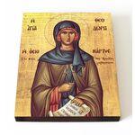 Преподобная Феодора Солунская, икона на доске 13*16,5 см - Иконы