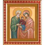 Праведные Иоаким и Анна, икона в рамке с узором 21,5*25 см - Иконы