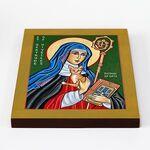 Преподобная Гертруда Нивельская, икона на доске 20*25 см - Иконы