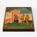Изгнание Адама и Евы из рая, икона на доске 20*25 см - Иконы