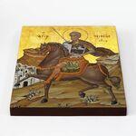 Великомученик Мина Котуанский, Фригийский, икона на доске 20*25 см - Иконы