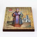 Святитель Иоасаф, епископ Белгородский, икона на доске 20*25 см - Иконы