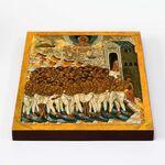 Сорок мучеников Севастийских, XV - XVI вв, икона на доске 20*25 см - Иконы