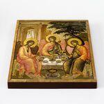 Святая Троица, Симон Ушаков, 1671 г, икона на доске 20*25 см - Иконы