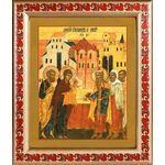 Обрезание Господне, икона в рамке с узором 19*22,5 см - Иконы