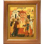 Обрезание Господне, икона в широкой рамке 19*22,5 см - Иконы