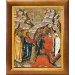 Воскрешение Лазаря, икона в рамке 17,5*20,5 см - Иконы