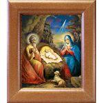 Рождество Христово, в широкой рамке 14,5*16,5 см - Иконы
