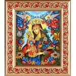 """Икона Божией Матери """"Благоуханный Цвет"""", рамка с узором 14,5*16,5 см - Иконы"""