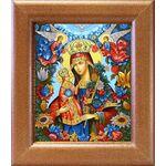 """Икона Божией Матери """"Благоуханный Цвет"""", широкая рамка 14,5*16,5 см - Иконы"""