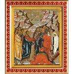 Воскрешение Лазаря, икона в рамке с узором 21,5*25 см - Иконы