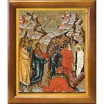 Воскрешение Лазаря, икона в рамке 20*23,5 см - Иконы