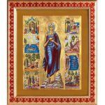 Преподобная Мария Египетская с житием, рамка с узором 21,5*25 см - Иконы