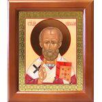 Святитель Николай Чудотворец, деревянная рамка 12,5*14,5 см - Иконы