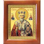 Святитель Николай Чудотворец в красном облачении, рамка 12,5*14,5 см - Иконы
