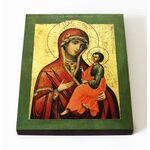 Грузинская икона Божией Матери, печать на доске 8*10 см - Иконы