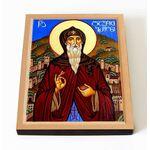Преподобный Давид Гареджийский, икона на доске 8*10 см - Иконы