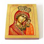 Казанская Каплуновская икона Божией Матери, печать на доске 8*10 см - Иконы
