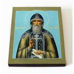 Преподобный Иосиф Волоцкий, Волоколамский, икона на доске 8*10 см - Иконы