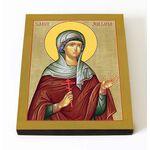 Мученица Иулиания Никомидийская, икона на доске 8*10 см - Иконы