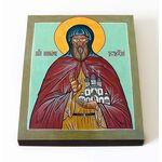 Преподобный Киприан Устюжский, икона на доске 8*10 см - Иконы