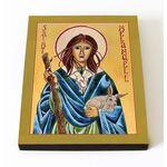 Преподобная Мелангелла Валлийская, икона на доске 8*10 см - Иконы