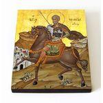 Великомученик Мина Котуанский, Фригийский, икона на доске 8*10 см - Иконы