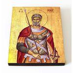 Великомученик Мина Котуанский, Фригийский, печать на доске 8*10 см - Иконы